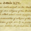 In Consideration of the 14th Amendment